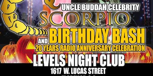 Uncle Buddahs 20 Year Radio Anniversary. And Birthday Bash.