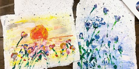 Acrylic Floral Painting + MYO Paper tickets