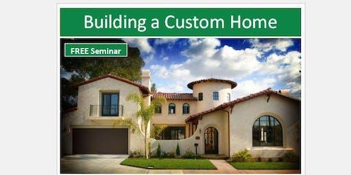 Building a Custom Home - Process, Land/Lots & Construction Finanacing