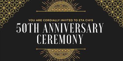 Delta Sigma Pi: Eta Chi's 50th Anniversary Ceremony