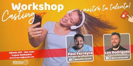 Workshop Redes & Casting - Paul Ferreyra y Leo Rodriguez - San Juan entradas
