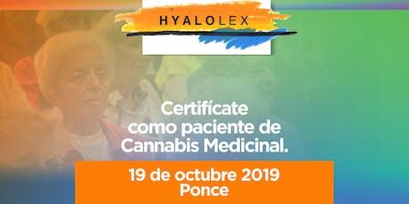 Certificación para pacientes de Cannabis Medicinal - Llega Hyalolex a PONCE (19 Octubre 2019) tickets