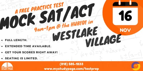FREE Mock SAT/ ACT Test tickets