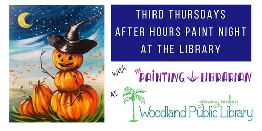After Hours Paint Night at the Library!