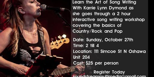 Writing Workshop With Karrie Lynn Dymond