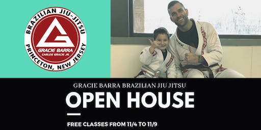 Gracie Barra North Princeton Open House - Free Classes 11/04 to 11/09