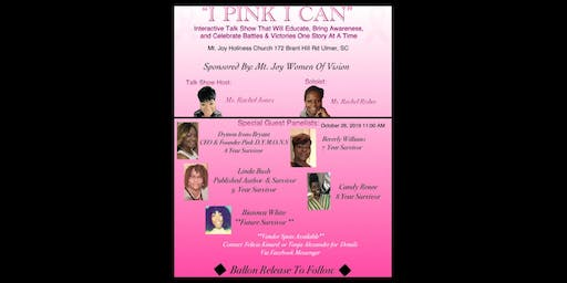 I 'Pink' I Can (Breast Cancer Awareness Talk Show)