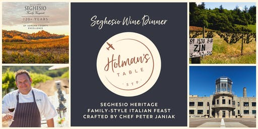 Seghesio Heritage Wine Dinner