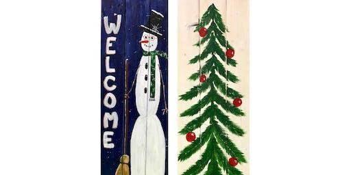 "Adult Open ""Wood Creations, Snowman or Folk Art Tree"""