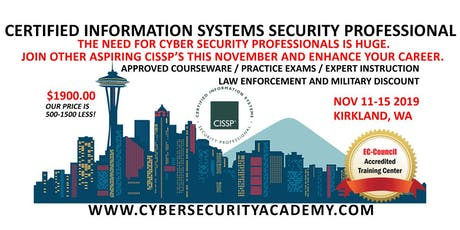 Certified Information Systems Security Professional (CISSP) Course tickets