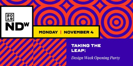 Taking the Leap: Design Week Opening Party tickets
