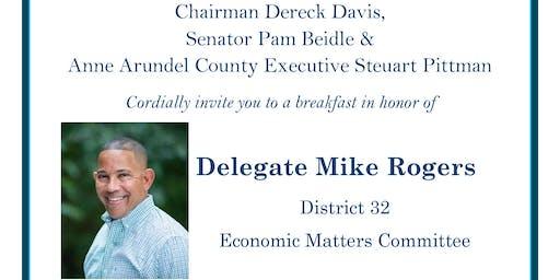 Breakfast in honor of Delegate Mike Rogers