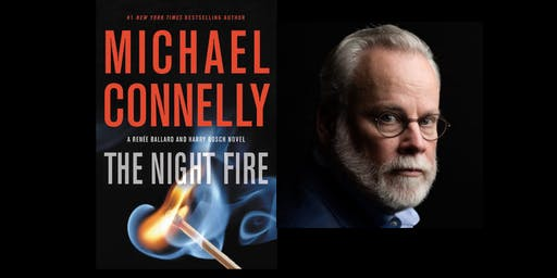 Michael Connelly signs THE NIGHT FIRE