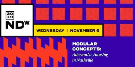 Modular Concepts: Alternative Housing in Nashville tickets