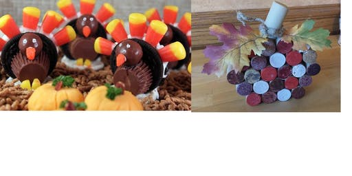 Cork Pumpkin or a Candy Turkey Make and Take