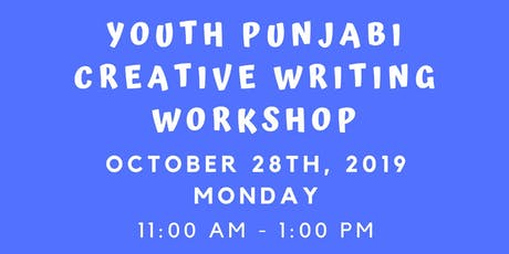 Youth Punjabi Creative Writing Workshop tickets