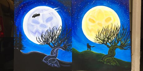 """Sip and Paint Night: """"Moonlit Magic"""" - Harry Potter-Inspired Art @ The Iron Goat tickets"""