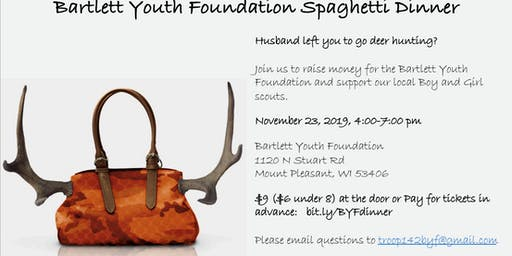 Bartlett Youth Foundation Spaghetti Dinner