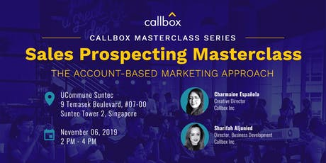 Callbox's Sales Prospecting Masterclass (The ABM Approach) tickets