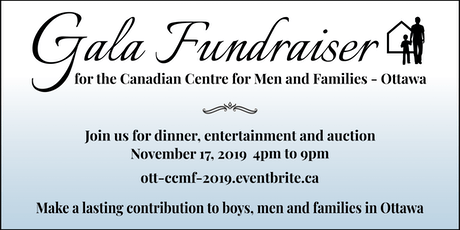 Canadian Centre for Men & Families Fundraising Gala tickets