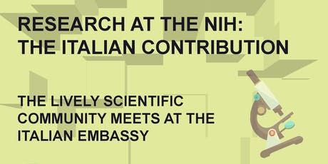 Research at the NIH: the Italian contribution tickets