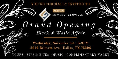 GRAND OPENING of Alexan Lower Greenville tickets