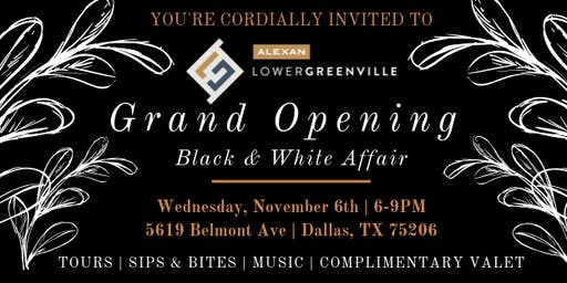 GRAND OPENING of Alexan Lower Greenville