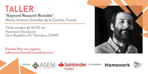 "Taller ""Keyword Research Rentable"""