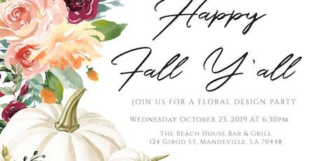 Pumpkin Floral Design Event tickets
