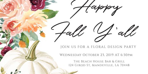 Pumpkin Floral Design Event