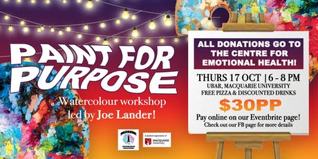 Paint For Purpose: Watercolour Workshop Fundraising for Mental Health! tickets