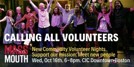 Massmouth Community Volunteer Night - October