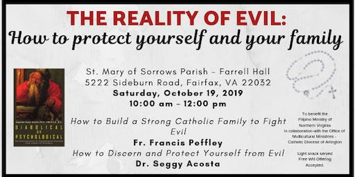 The Reality of Evil:  How to protect yourself and your family