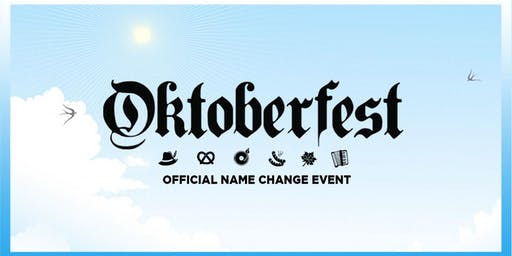 Name Change for Oktoberfest St Kilda 2019 (THIS IS NOT A VALID ENTRY TICKET)