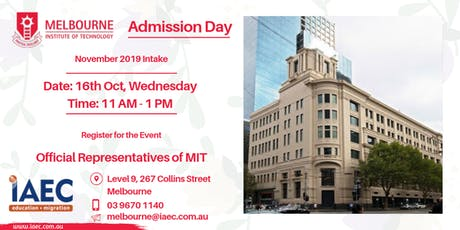 Melbourne Institute of Technology Priority admissions session tickets