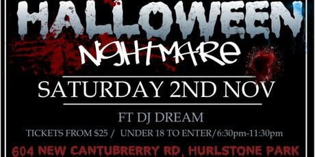 U 18's Halloween Nightmare Dance Party tickets
