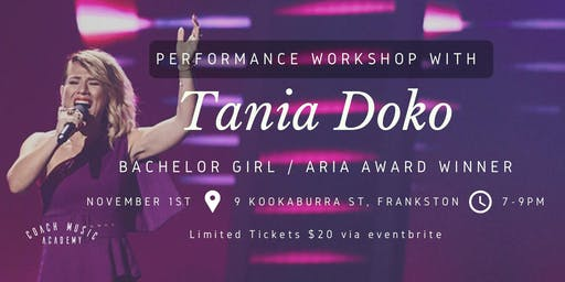 Tania Doko - Exclusive Performance Workshop