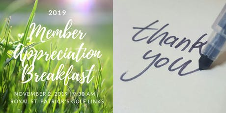 2019 Member Appreciation Breakfast tickets