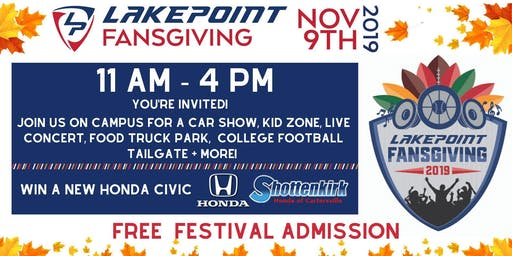 LakePoint Fansgiving Fall Festival and Car Show
