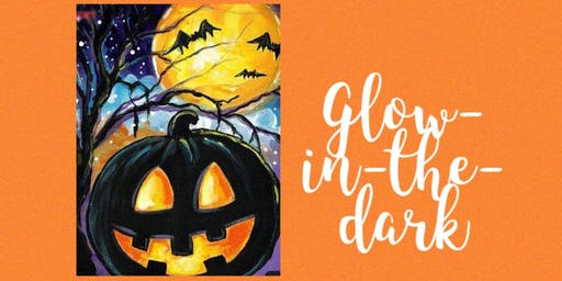 Halloween Pumpkin Paint Night with GLOW-IN-THE-DARK paint!!!