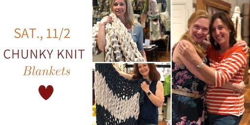 Chunky Knit Blankets DIY @ Nest on Main- Sat., 11/2