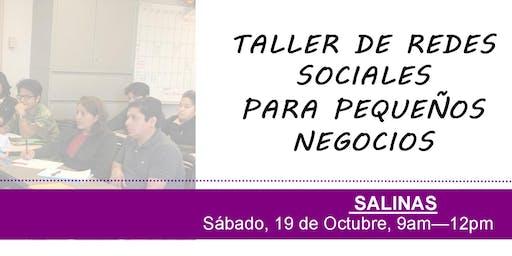Taller de redes sociales para pequeños negocios - Salinas, CA