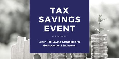 Tax Savings & Financial Planning Seminar tickets