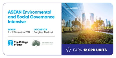 ASEAN Environmental and Social Governance Intensive