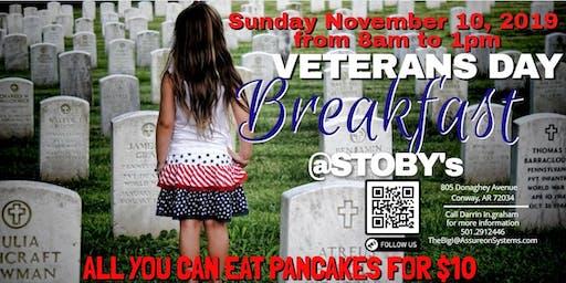 2019 Veterans Day - Pancake Fundraiser