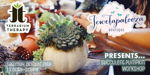 Pumpkin Succulent Centerpiece at Jewelapalooza