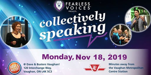 Fearless Voices - Inspirational Speaker Series in York and Peel Region - November 18, 2019