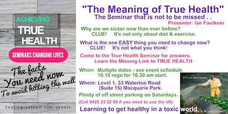 HealthWise Seminar in Sydney tickets