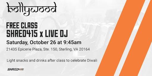 Free Shred415 Live DJ Bollywood Theme Class celebrating Diwali
