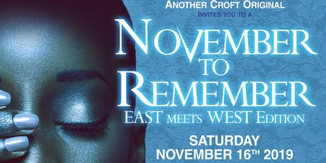 November to Remember (East Meets West Edition) tickets